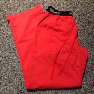 Grey's Anatomy Pants - Papaya grey's anatomy S scrub bottoms w/ elastic